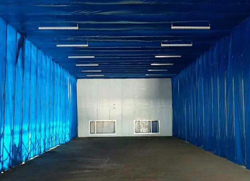 伸缩式喷漆房